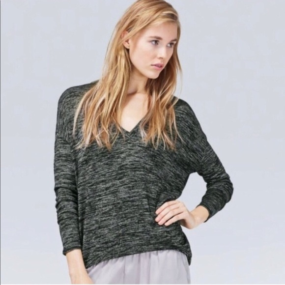 Aritzia Wilfred free oversized V-neck Sweater